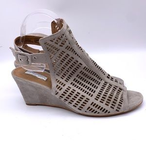 Halogen Suede Cut Out Wedge Sandal